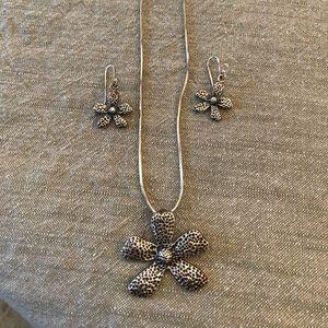 Silpada Sterling Earrings and pendant